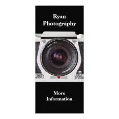 Retro 80s Camera Photographers Promotional Card at Zazzle