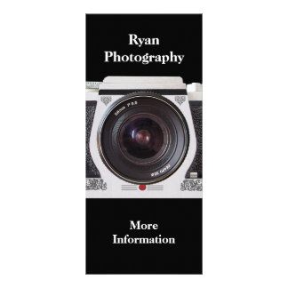 Retro 80s Camera Photographers Promotional Card Personalized Rack Card