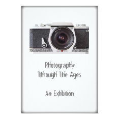 Retro 80s Camera Themed Event Invitation Card at Zazzle