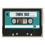 Retro 80s Cassette Mixtape Personalized Stationery Note Card