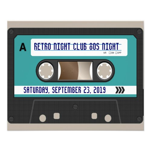 Retro 80s Cassette Mixtape Personalized flyer
