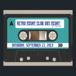 """Retro 80s Cassette Mixtape Personalized Flyer<br><div class=""""desc"""">Retro mixtape design features a realistic cassette audio tape with a personalized label, just waiting for you to add custom text. Customize the Background with any color! After entering your details, click &quot;customize it&quot;, then &quot;Edit&quot;, then &quot;Background&quot;, and choose any color! This item is also avaliable as a complete collection...</div>"""