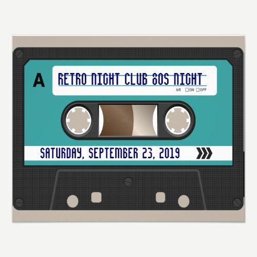 Retro 80s Cassette Mixtape Personalized Flyer