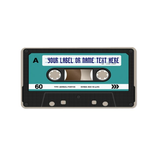 Retro 80s Cassette Mixtape Personalized Label