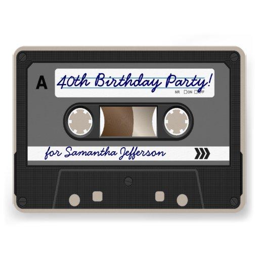 Personalized 40th birthday invite Invitations – Personalized 40th Birthday Invitations
