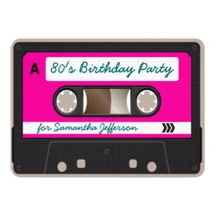 Cassette Tape Invitations Announcements Zazzle