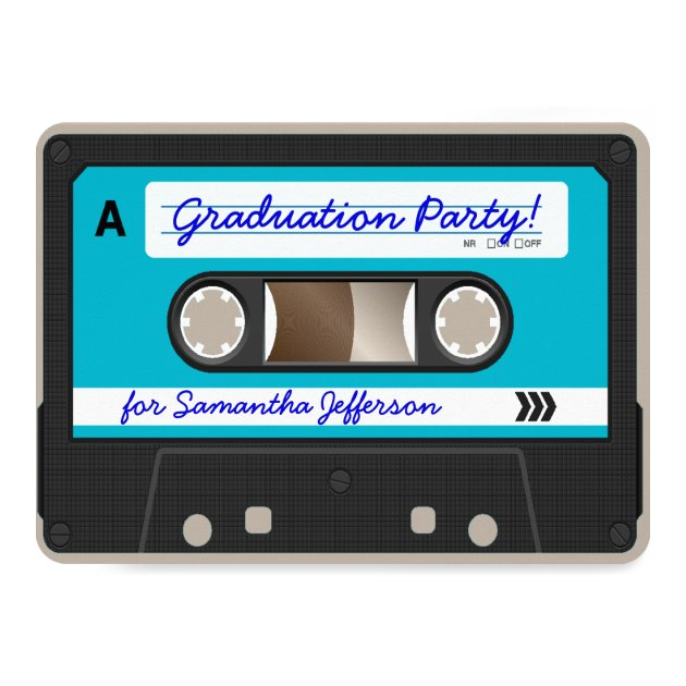 Personalized Cassette tape Invitations CustomInvitations4Ucom