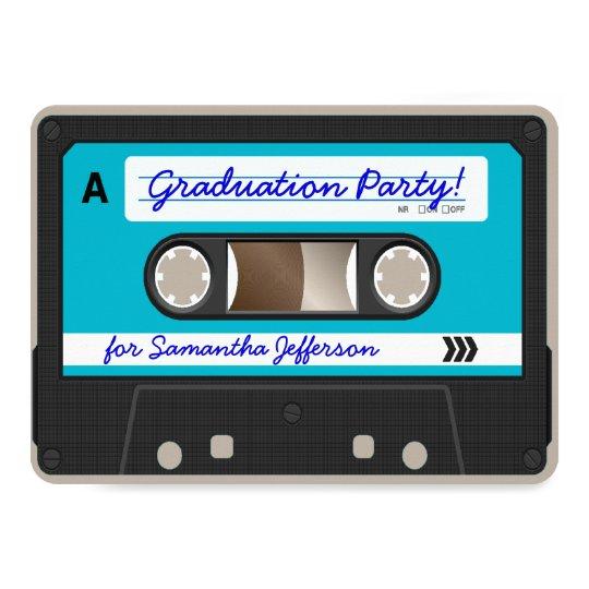 Retro 80 S Cassette Tape Graduation Party Invitation Zazzle Com