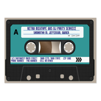 Retro 80s Cassette Tape Large Business Cards (Pack Of 100)