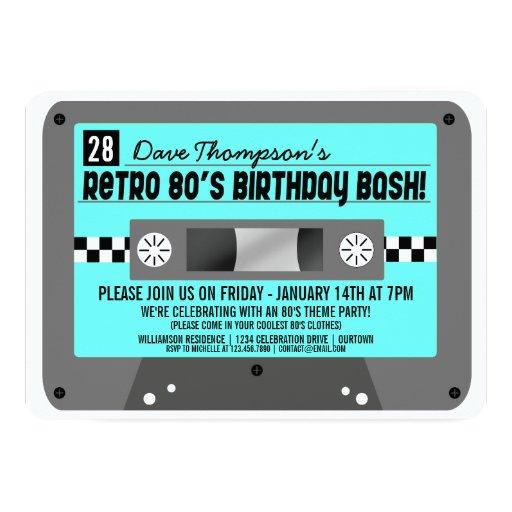 Cassette Tape Invitation with adorable invitation design