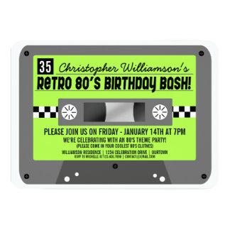 Retro 80's Cassette Tape Party Invitations