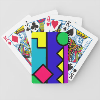 Retro 80s Color Block Bicycle Playing Cards
