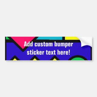 Retro 80s Color Block Car Bumper Sticker
