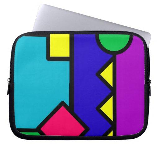 Retro 80s Color Block Computer Sleeve