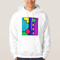 Retro 80s Color Block Hoodie