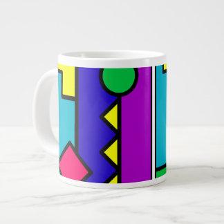Retro 80s Color Block Large Coffee Mug