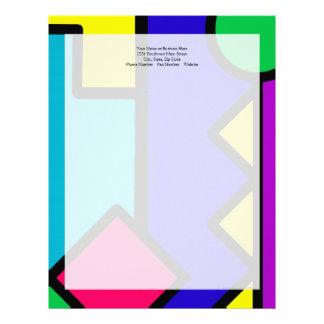 Retro 80s Color Block Letterhead