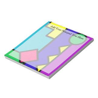Retro 80s Color Block Notepad