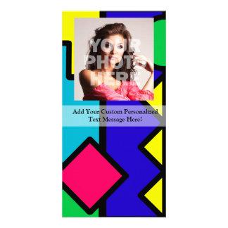 Retro 80s Color Block Photo Card Template