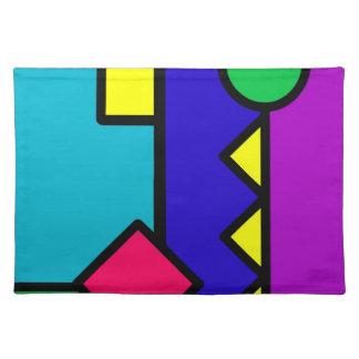 Retro 80s Color Block Placemat