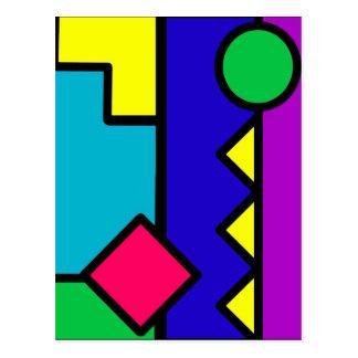 Retro 80s Color Block Post Card