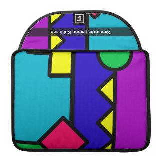 Retro 80s Color Block Sleeve For MacBook Pro