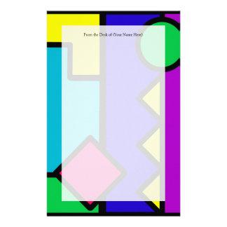 Retro 80s Color Block Stationery