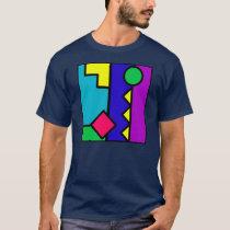 Retro 80s Color Block T-Shirt
