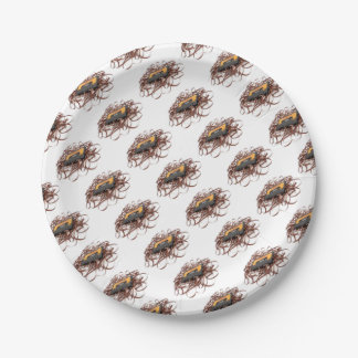 Retro 80's Design - Audio Cassette Tape Paper Plate