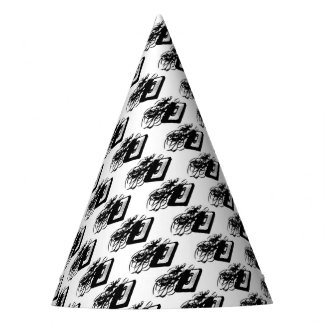 Retro 80's Design - Audio Cassette Tape With Pulle Party Hat