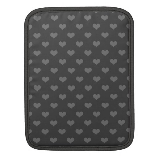 Retro 80s flannel gray bubble hearts emo pattern iPad sleeves
