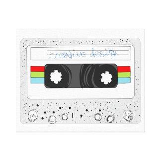 Retro 80s funky cassette tape canvas print