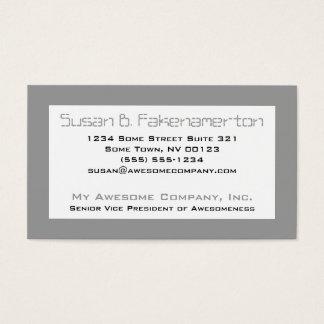 Retro 80's Mixtape  - Black and Grey Business Card
