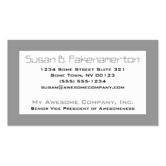Retro 80's Mixtape  - Black and Grey Business Card