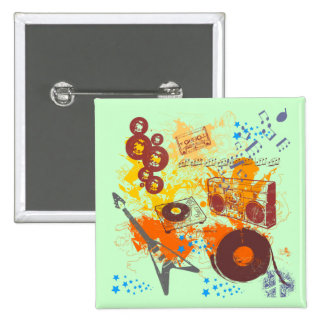 Retro 80's Music Pin
