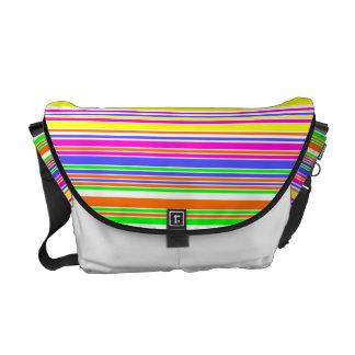 Retro 80s Neon Stripe Commuter Bag