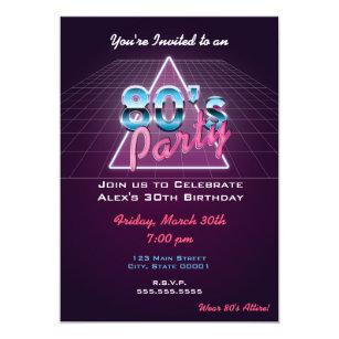 Retro 80s Party Invitation