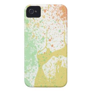 Retro 80s pastel paint splatter print iPhone 4 4S iPhone 4 Cover