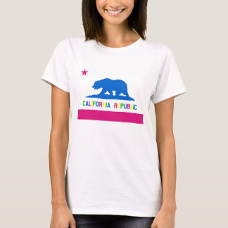 Retro 80s Style California Republic Flag T-Shirt