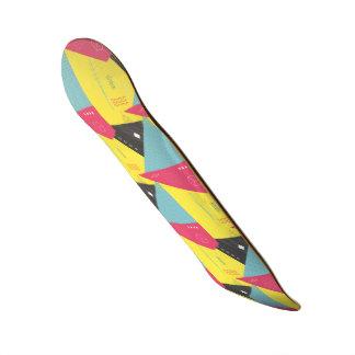 Retro 80's Style Theme Skateboard