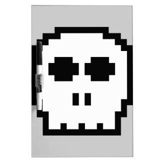 Retro 8-bit Skull Dry-Erase Whiteboard