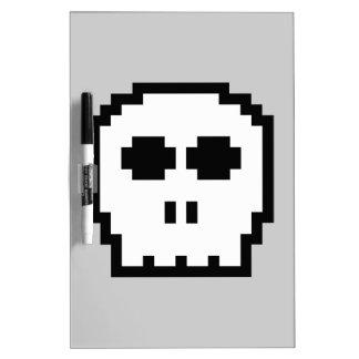 Retro 8-bit Skull Dry Erase Boards