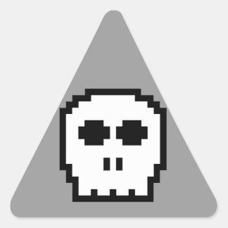 Retro 8-bit Skull Stickers