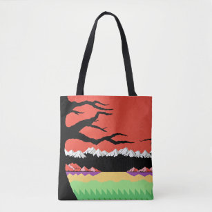 Retro 8-Bit Video Game Inspired Tote Bag