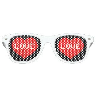Retro 8bit Love Hearts Party Glasses Wayfarer Sunglasses