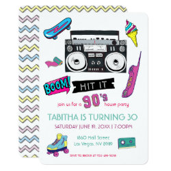Retro 90's Birthday Party Invitation