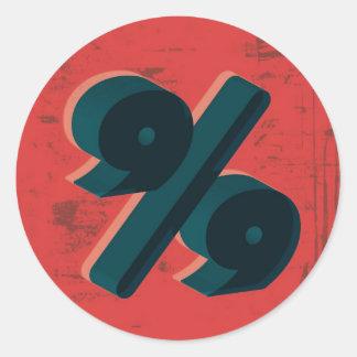 Retro 99 Percent Classic Round Sticker