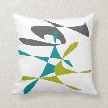 Retro Abstract 3 Throw Pillow