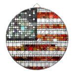 Retro Abstract American Flag Dartboards