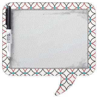 Retro Abstract Art Design Dry Erase Whiteboard